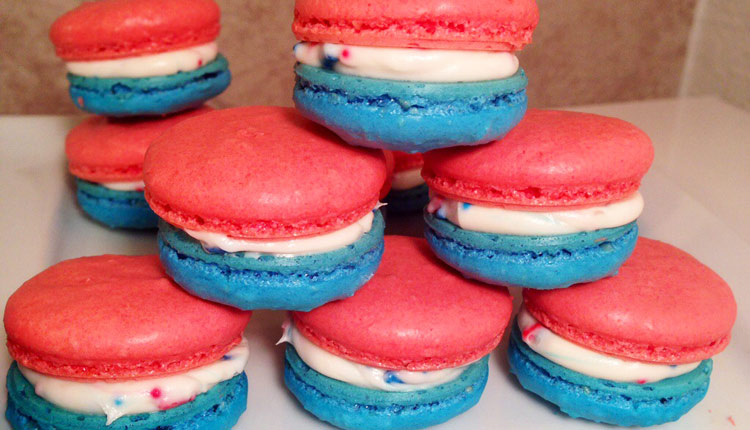 July 4th Macarons - GERBS EATING WELL BLOG