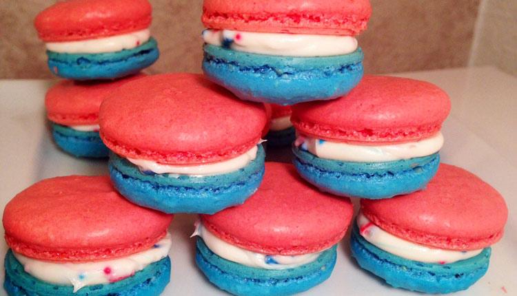 July 4th Macarons - GERBS EATING WELL BLOG