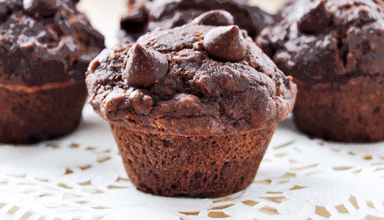 Gluten Free Double Chocolate Chip Muffins - GERBS EATING WELL BLOG