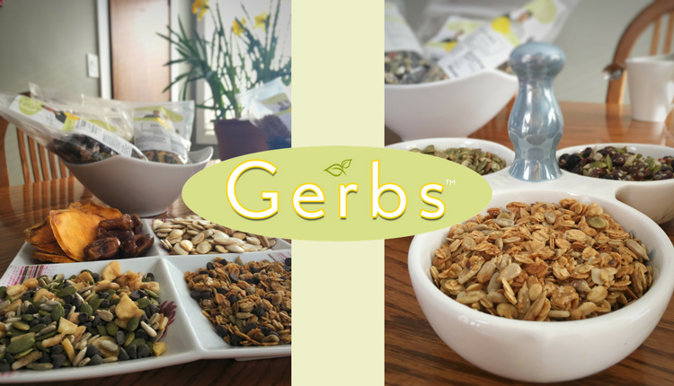 Gerbs granola and pumpkin seeds and snack mix