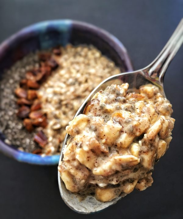 National Chia Day with Overnight Oats with Chia and Dates