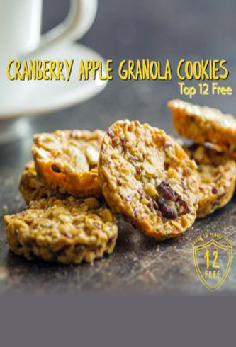 Cranberry Apple Granola Cookies