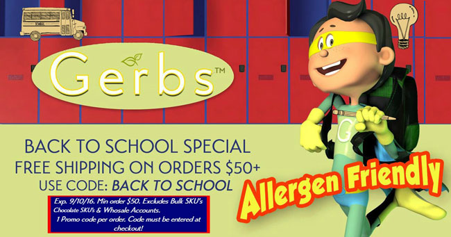 GERBS BACK TO SCHOOL DISCOUNT CODE