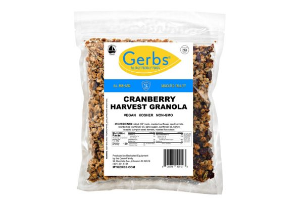 cape cod cranberry harvest granola