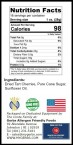 Dried Cherries – Sweetened nutrition facts