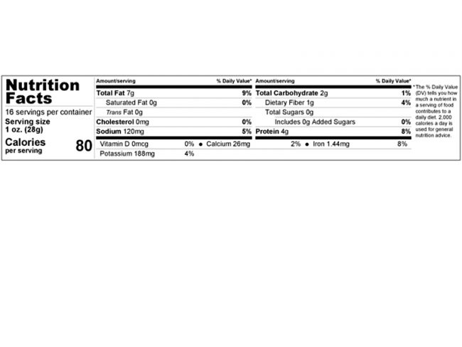 chipotle seasoned in shell roasted sunflower seeds nutrition facts