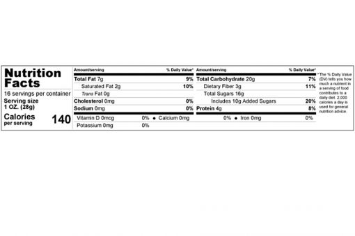 dark chocolate chips jumbo size nutrition facts