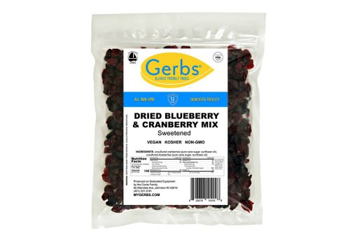 dried blueberry & cranberry fruit mix