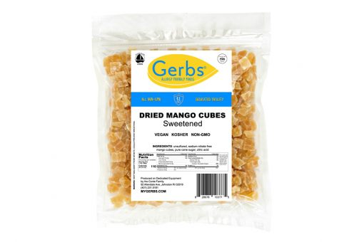 dried chopped mango cubes sweetened