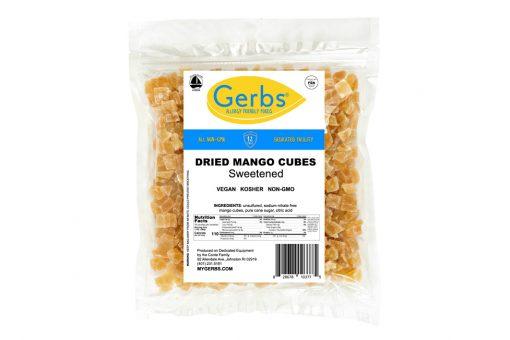 dried chopped mango cubes sweetened