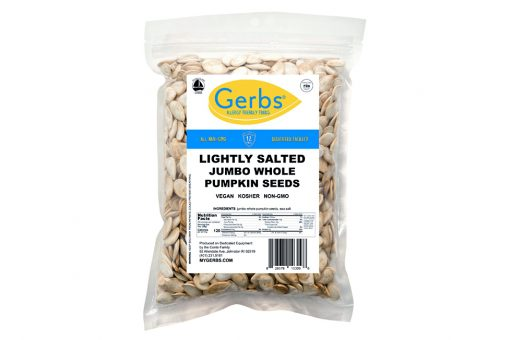 lightly sea salted dry roasted in shell jumbo whole pumpkin seeds