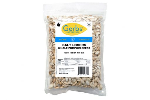 salt lovers dry roasted in shell whole pumpkin seeds