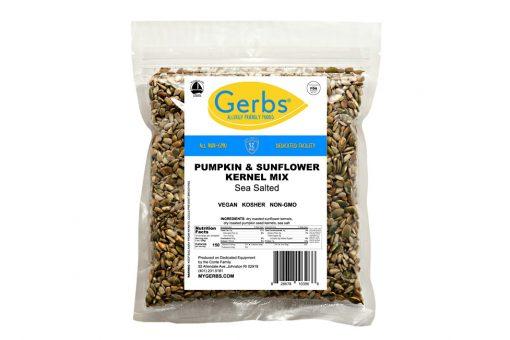 sea salted roasted pumpkin & sunflower seed mix kernels