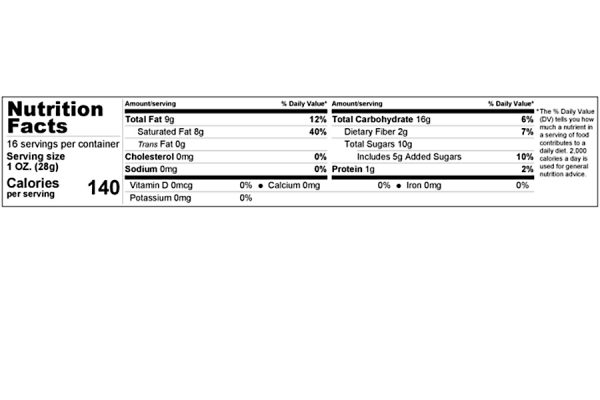 sweetened banana chips nutrition facts