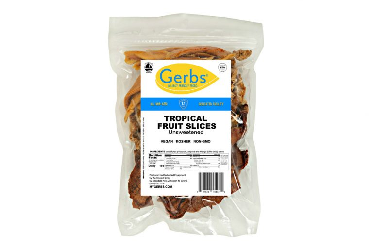 tropical dried fruit mix slices unsweetened