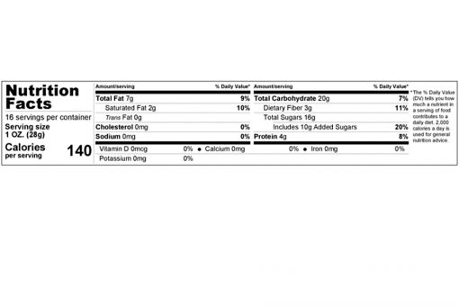 dark chocolate chips traditional size nutrition facts