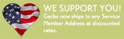 Discounted Shipping to American Soldiers from Gerbs