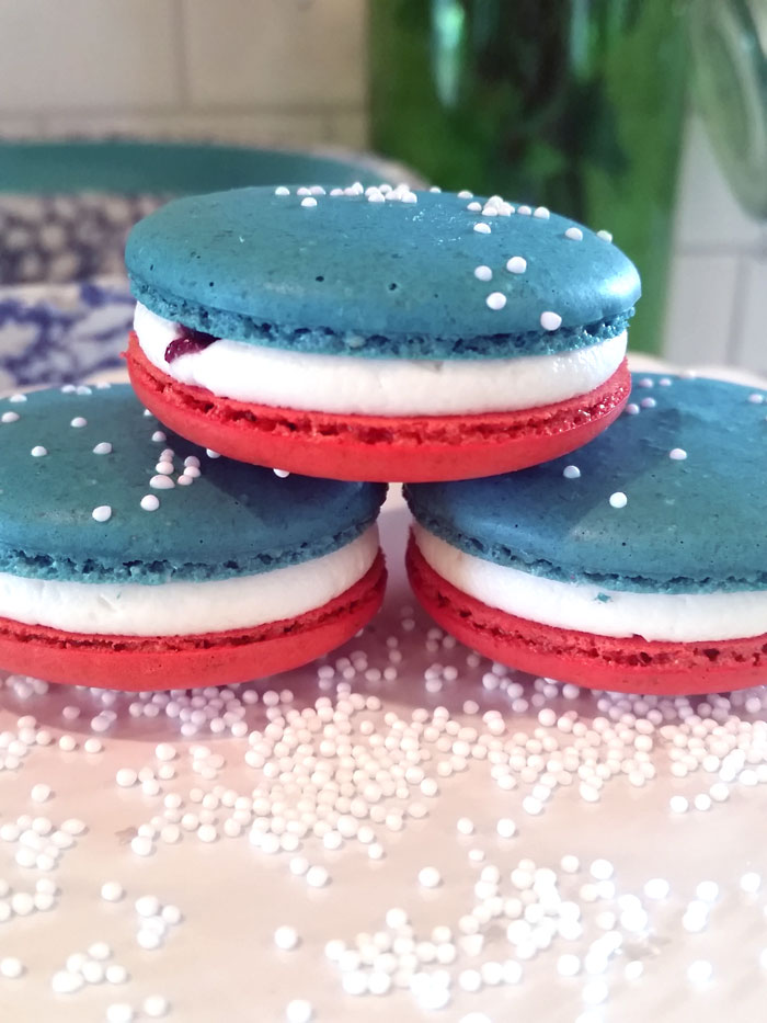 GERBS RECIPE BLOG - Red White & Blue Macaroons by Lauren Warmke