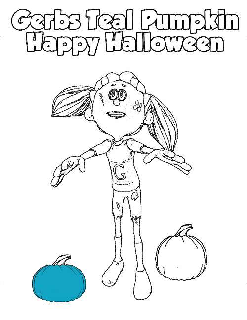 Gerbs Coloring Pages Contest - Zombie Girl