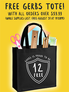 FREE GERBS TOTE BAG WITH 59.99 ORDER!