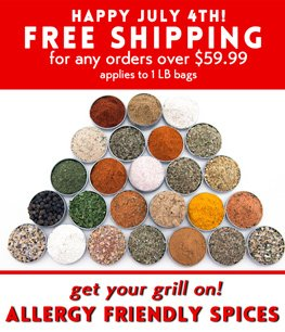 HAPPY JULY 4th - GERBS ALLERGY FRIENDLY SPICES