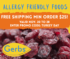 Gerbs Free Shipping Offer Thanksgiving