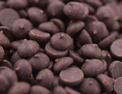 Dark Chocolate Chips - Miniatures (68% Cacao) Close up