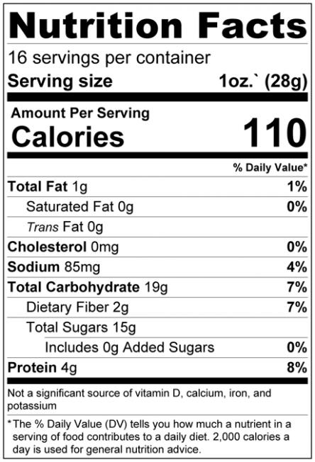 Dried Goji Berries (Wolfberry) - No Added Sugar Nutrition Facts