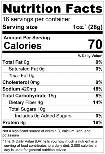 Sun Dried Tomatoes Nutrition Facts
