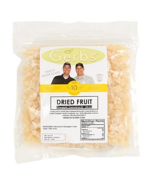 Dried Chopped Pineapple Cubes Bag