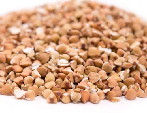 Buckwheat Grain Close up