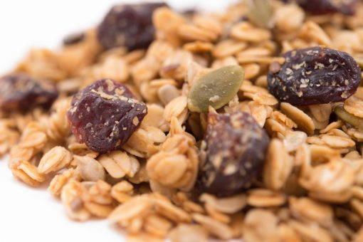 Cherry Harvest Granola Close up