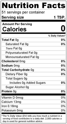 Basil Leaves/Flakes Nutrition Facts