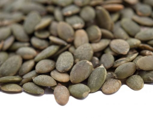 Lightly Sea Salted Dry Roasted Pumpkin Seed Kernels - Shelled Pepitas Close up
