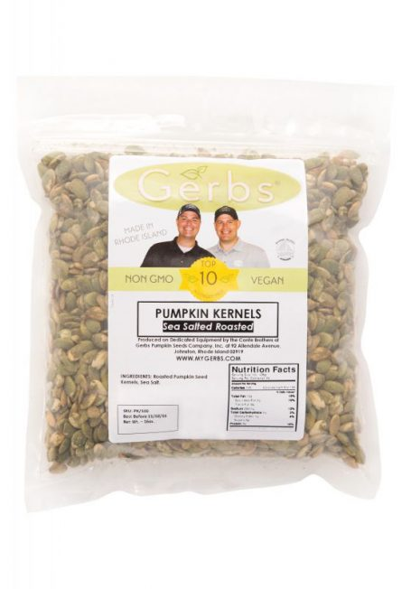 Sea Salted Dry Roasted Pumpkin Seed Kernels - Shelled Pepitas Bag