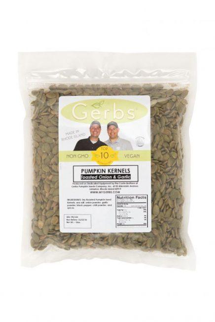 Toasted Onion & Garlic Dry Roasted Pumpkin Seed Kernels - Shelled Pepitas Bag