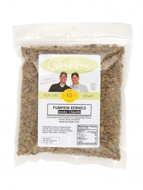 Chipotle Seasoned Dry Roasted Pumpkin Seed Kernels - Shelled Pepitas Bag