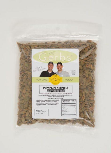 Spicy Habanero Dry Roasted Pumpkin Seed Kernels - Shelled Pepitas Bag