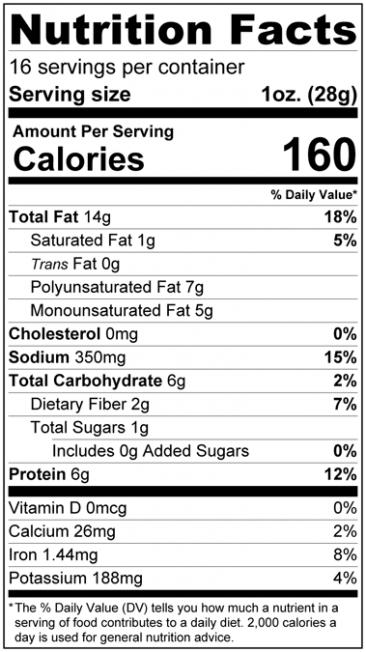 Salt Lovers Roasted Sunflower Seed Kernels - Dry Roasted Nutrition Facts