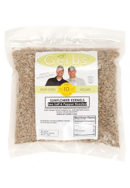 Sea Salt & Pepper Seasoned Sunflower Seed Kernels - Dry Roasted Bag