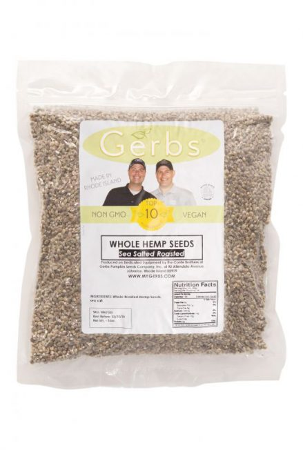 Sea Salted Roasted Hemp Seeds - In Shell Bag