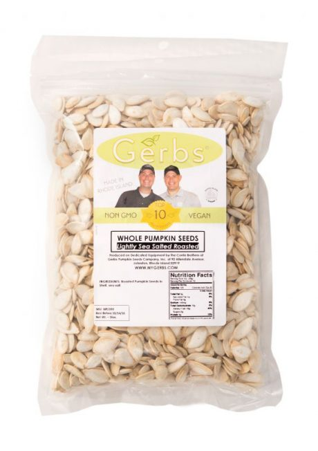 Lightly Sea Salted Dry Roasted In Shell Pumpkin Seeds - Whole Pepitas Bag