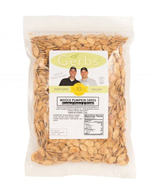 Toasted Onion & Garlic Dry Roasted In Shell Pumpkin Seeds - Whole Pepitas Bag
