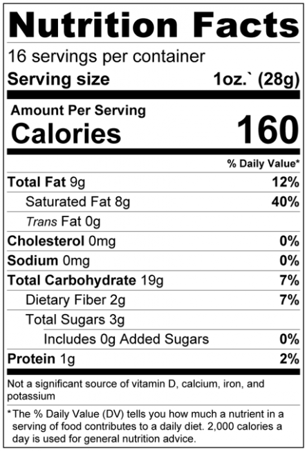 Banana Chips - No Added Sugar Nutrition Facts