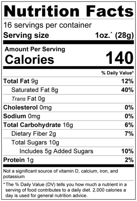 Banana Chips - Sweetened Pieces Nutrition Facts