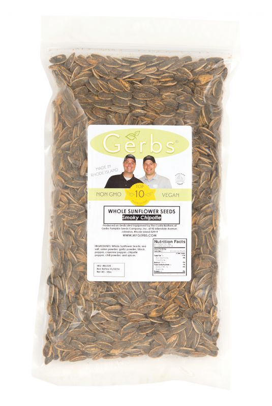 Chipotle Dry Roasted Seasoned Sunflower Seeds - In Shell Bag