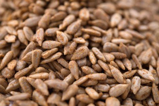 Chipotle Seasoned Sunflower Seed Kernels - Dry Roasted Close up