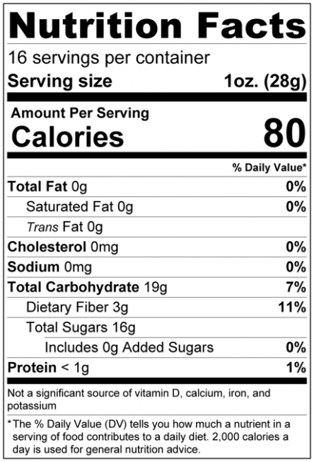 Dried Apple Slices Nutrition Facts
