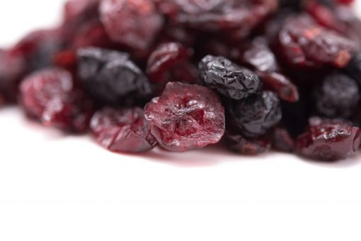 Dried Blueberry & Cranberry Fruit Mix Close up