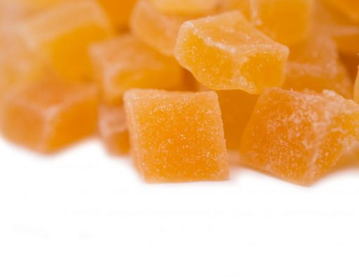 Dried Chopped Mango Cubes Close up